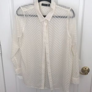 Size large off-white see thru blouse